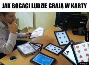 Bogaci grają w karty
