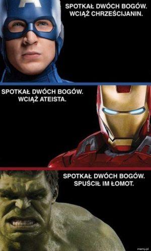 Hulk ma chyba najbardziej racjonalne podejście z tej trójki