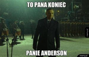 Witam, panie Anderson
