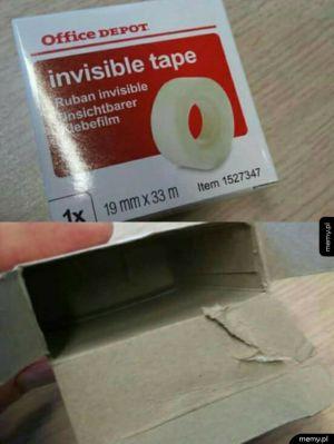 Niewidzialna taśma
