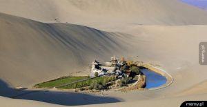 Oaza na pustyni Gobi