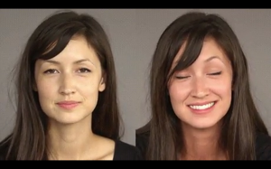 Kolor skóry przed i po spożyciu alkoholu: