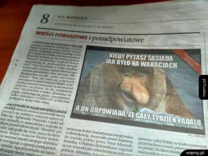 Memy w gazetach