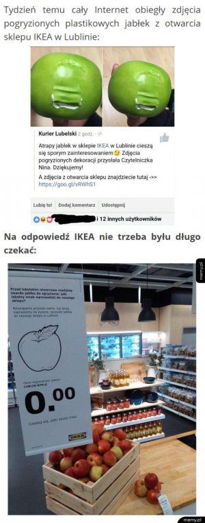 Klienci pogryźli sztuczne jabłka, IKEA odpowiada