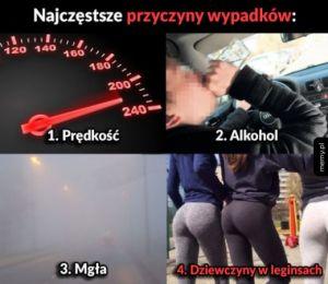Cztery najczęstsze przyczyny wypadków