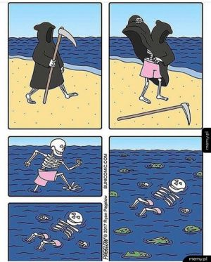 Nawet śmierć zasługuje na wakacje