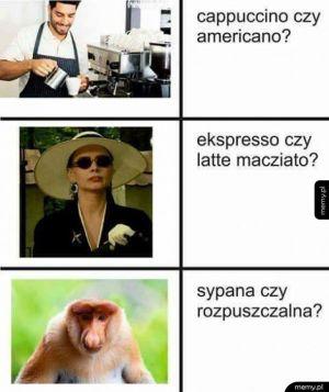 Janusz wybiera kawę