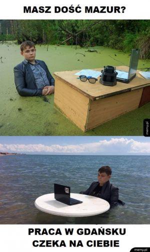 Praca nad morzem