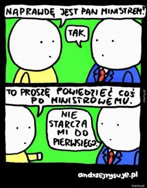 Język ministra