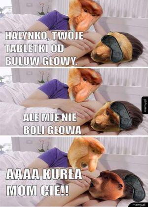 Janusz i Halynka w łóżku
