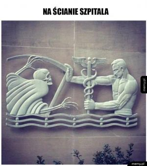 Na ścianie szpitala