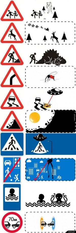 Luźnejsze podejście do znaków