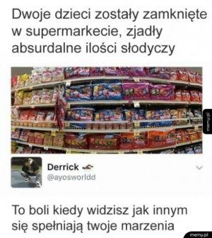 Dzieci w supermarkecie