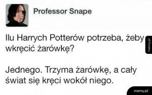Ilu Harrych Potterów potrzeba żeby wkręcić żarówkę?