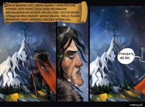 Krótki komiks o dzielnym bohaterze