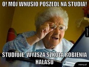 Studia wnusia Sebastiana.