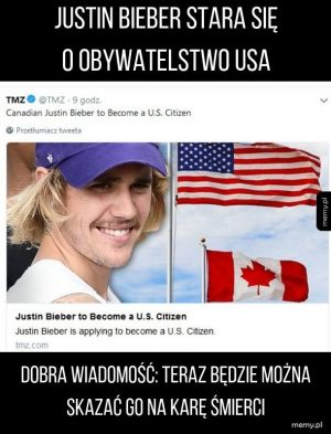 Bieber obywatelem USA