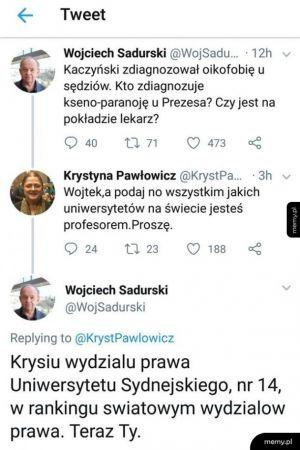 Profesor profesorowi nierówny :V