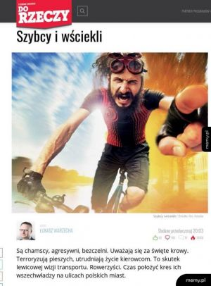 Od rzeczy i lewaccy rowerzyści XD