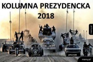 Kolumna prezydencka 2018 koloryzowane