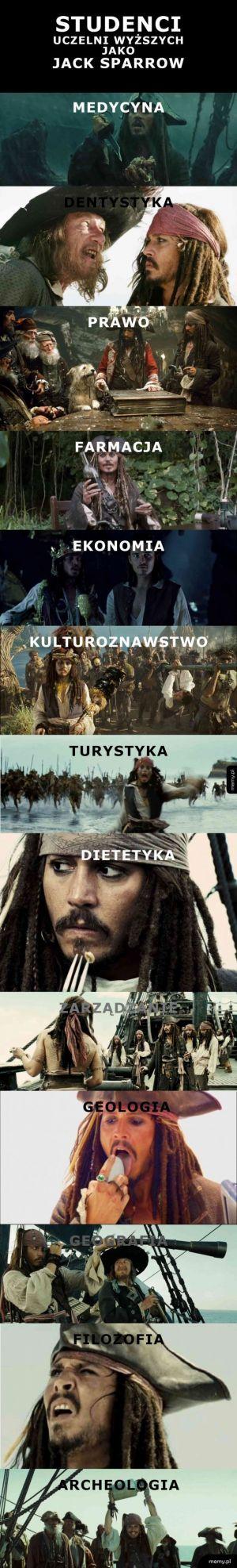 Studenci jako Jack Sparrow