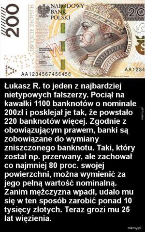 Fałszowanie pieniędzy