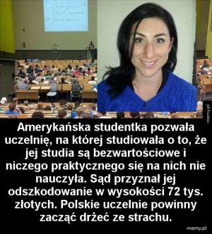 Studentka pozwała uczelnię i wygrała
