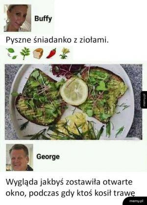 Pyszne wege śniadanko