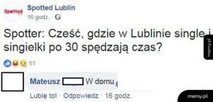 Gdzie w Lublinie single i singielki po 30 spędzają czas?