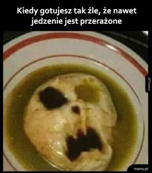 Przerażone jedzenie