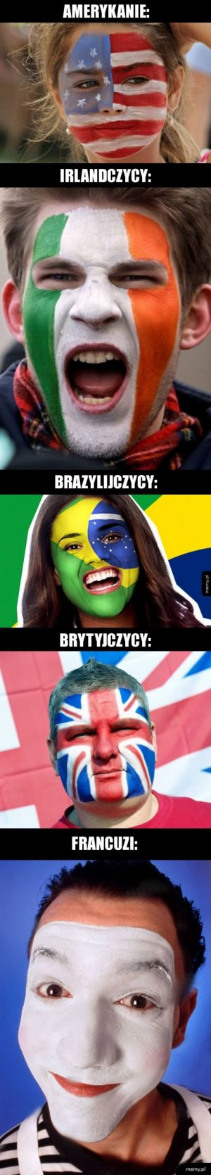 Malowanie twarzy na wzór flagi