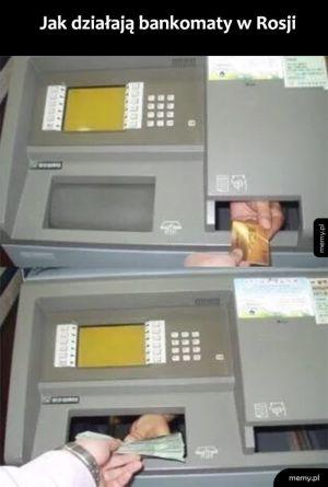 Rosyjskie bankomaty