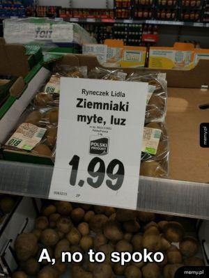 Ziemniaki umyte