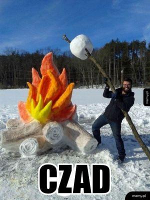 Rzeźba ze śniegu