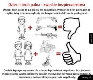 Dzieci + broń palna = ?