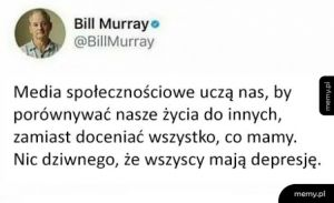 Bill Murray to mądry gość