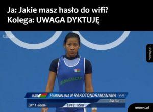 Hasło wifi