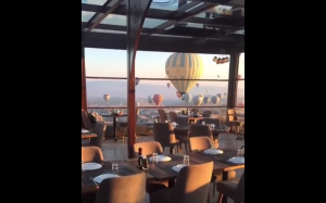 Widok z okien restauracji