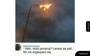 lampa się świeci, nie pali
