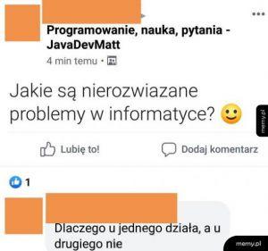 Nierozwiązane problemy informatyki