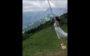Huśtawka w Alpach