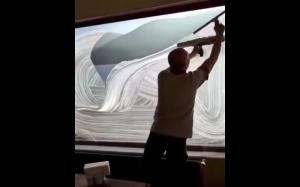 Artystyczne mycie okien