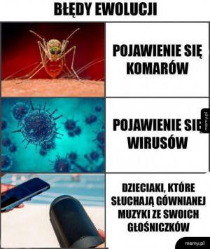 Błędy ewolucji
