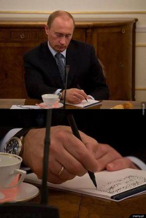 Putin i jego notatki