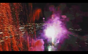 Fajerwerki nagrane z drona