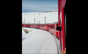 Pociąg w śniegu