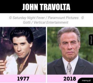 Travolta kiedyś i dziś