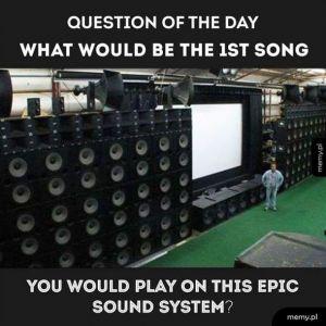 Jaką piosenkę puścilibyście na tym sprzęcie?