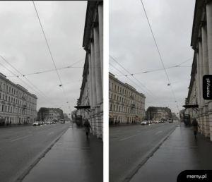 Petersburg czarnobiały i w kolorze
