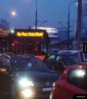 Informacja dla spóźnionych na autobus